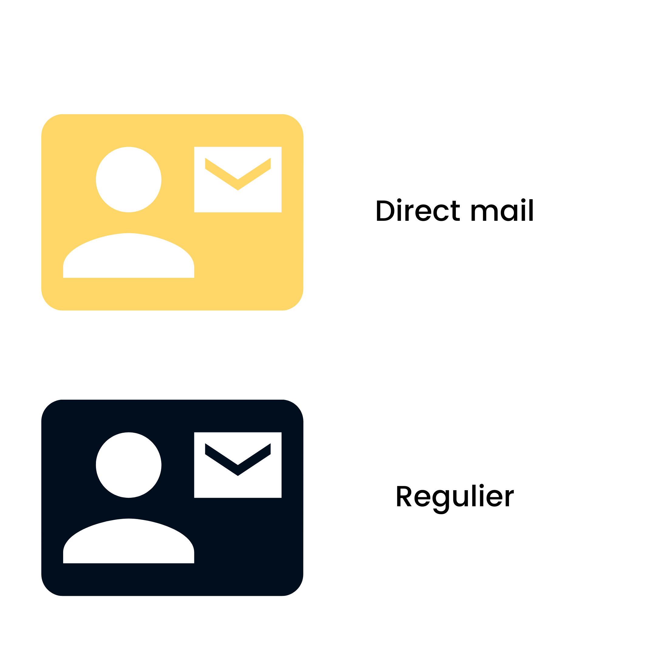 direct mail en regulier